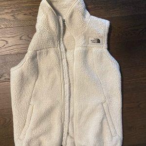 The North Face Cream Sherpa Vest Size M